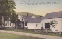 Vermont Plymouth The Boyhood Home Of President Coolidge Albertype - United States