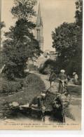 CPA 29 SAINT JEAN DU DOIGT LAVEUSE DU CHEMIN CREUX DE SAINT JULIEN 1917 - Saint-Jean-du-Doigt