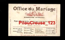 THEME NOCES - OFFICE DU MARIAGE - CARTE PRECURSEUR - Noces
