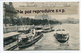 - LONDON - THAMES EMBARQUEMENT - Boats, En 1907, Rare, écrite, Très Bon état, Scans.