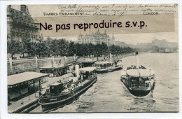 - LONDON - THAMES EMBARQUEMENT - Boats, En 1907, Rare, écrite, Très Bon état, Scans. - River Thames