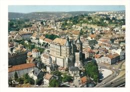 Cp, 25, Montbéliard, Vue Aérienne, Le Château,voyagée 1985 - Montbéliard