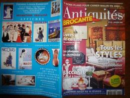 N° 60 De Janvier  2003  ANTIQUITES-BROCANTE : Livres De Cuisine ; Plaques De Cheminée ; Baccarat.....etc.... - Antichità & Collezioni