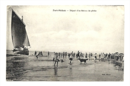 Cp, 62, Fort MAhon, Départ D'un Bateau De Pêche, Voyagée - Autres Communes