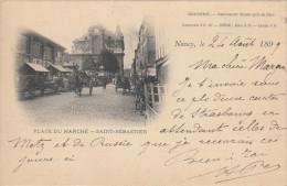 54 NANCY  PLACE DU MARCHE -SAINT SEBASTIEN- BRASSERIE -RESTAURANT THIERS - Nancy