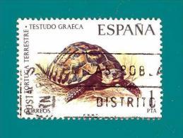 España. Spain. 1974 (o) Usados. Used. Edifil 2192. Fauna. Tortuga Terrestre - 1931-Today: 2nd Rep - ... Juan Carlos I