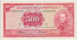 Colombia 500 Pesos 1973 Pick 416 UNC - Colombie