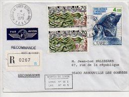 Ref JX Enveloppe Alfred Faure Pont Aux Français Dumont D'Urville  T.A.A.F Terres Australes Et Antartiques Française 1984 - Cartas