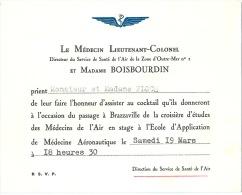 Brazzaville Service De Santé De L'Air Médecin Lieutenant-Colonel - Documents Historiques