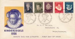 Nederland, Kinderzegels 1956 - First Day Of Issue - Period 1949-1980 (Juliana)
