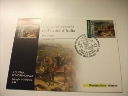 150° ANNIVERSARIO DELL´UNITA´ D´ITALIA  FATTI D´ARME II GUERRA D'INDIPENDENZA  BATTAGLIA DI SOLFERINO - Andere Kriege