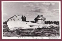 BATEAU GUERRE - 230813 - ALLEMAGNE - MARIUS BAR - BATIRAY Sous Marin 1938 - Guerra