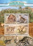 nig13125a Niger 2013 Wild cats Africa s/sMichel: 2117-2120
