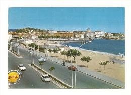 Cp, 83, Fréjus - Saint-Raphaël, La Plage, (Enseigne Shell), Voyagée 1970 - Saint-Raphaël