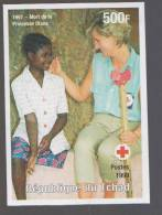 Death Of Princess Diana, Disabled Child Red Cross, Famous Woman IMPERF MNH Chad - Femmes Célèbres