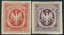 1916 Polish Legion 2 Stamps * - ....-1919 Gouvernement Provisoire