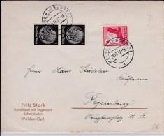 REICH  - 1937  - ENVELOPPE De WEIDEN à REGENSBURG - Alemania