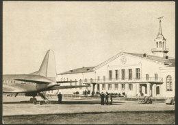 RUSSIA USSR SVERDLOVSK AIRPORT AIRPLANE AIRLINES POSTCARD - Aerodrome