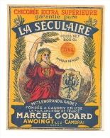 Ancienne Etiquette Chicorée Extra Supérieure La Séculaire  Lengrand Gabet  Caudry 1792 Marcel Godard Awoingt Lez Cambrai - Fruits & Vegetables
