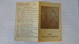 13R - Calendrier Année Sainte 1950 Pape - Images Religieuses