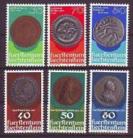 Liechtenstein 1977, Mi. 677 Ff, Münzenserien- Coins ** - Coins