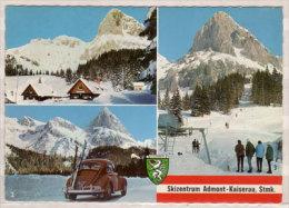 Skizentrum Admont - Kaiserau , Mehrbildkarte , Oberst Klinker Hütte Gegen Admonter Kalbling - Kalblingerhöhenstraße - - Admont