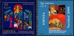 ESPAÑA 2000 - NAVIDAD - NOEL - CHRISTMAS - Edifil Nº 3769-3770 - Yvert 3336-3337 - 1931-Hoy: 2ª República - ... Juan Carlos I
