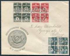 1947 Denmark Copenhagen Charlottenborg Stamp Exhibition Cover - Covers & Documents