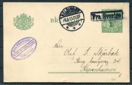 1911 Sweden Helsingor - Copenhagen Denmark Fra Sverige Paquebot Nils Pahlsson Stationery Postcard