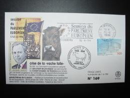 VACHE KUH COW CRISE DE LA VACHE FOLLE ESB BSE J. SANTIER  CONSEIL EUROPE FDC TIRAGE LIMITE - Vaches