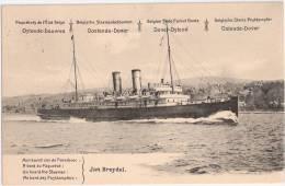 Paquetbot S De L´Etat Belge Ligne Ostende Douvres A Bord Du Paquetbot Jan Breydel Ungelaufen TOP-Erhaltung - Ganzsachen