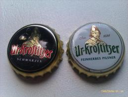 Lote 2 Chapas Kronkorken Caps Tappi Cerveza Ur-Krostitzer. Alemania. - Birra