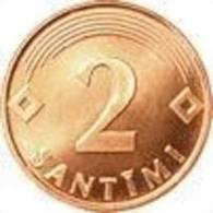 LATVIA  - 2009 LATVIAN 2 SANTIMI - COIN 2009 Y - UNC - Letonia