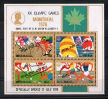 Aitutaki - 1976 Montreal Overprints Block MNH__(TH-2398) - Aitutaki