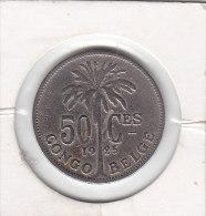 Congo-Belge 50 Centimes Cu-Ni Albert I 1925 - Congo (Belge) & Ruanda-Urundi