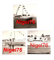 3 Photos Originales La BAULE En 1965 - Enfants Sur Le Bateau Amphibie NESCANARD 2 - La Baule-Escoublac