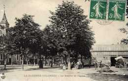 92-La GARENNE-COLOMBES--Le Marché Et L´Eglise-animée, - La Garenne Colombes