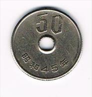 ..  JAPAN  50 YEN   1970 ( 45 ) - Japon