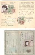 Carte Nationale D'identité   1957 + Permis De Travail Permanent C.E.E.  1965 - Documents Historiques