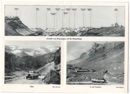 Topografische - Reisekarte Klausen Post Linthal- Altdorf Mit Postauto Saurer Car - Suisse