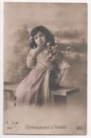 CPA Fantaisie - Enfants - Fillette - Portrait - Fleur - - Ritratti