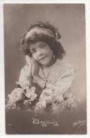 CPA Fantaisie - Enfants - Fillette - Portrait - Fleur - Ritratti