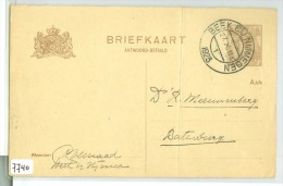 HANDGESCHREVEN BRIEFKAART Uit 1923 Van BEEK BIJ NIJMEGEN Naar BATENBURG * VOORDRUK NVPH Nr. 61 (7740) - Postal Stationery