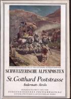 Topografische - Reisekarte  St. Gotthard Poststrasse Andermatt - Airolo Mit Postkutsche - Cartes Postales