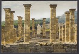 6.- 004 SPAIN POSTCARD. ROMAN CITY OF BAELO CLAUDIA IN HISPANIA.  FORUM AND TRAIANUS EMPEROR - History