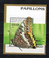 Benin - 1996 Butterflies Block MNH__(TH-5478) - Benin - Dahomey (1960-...)