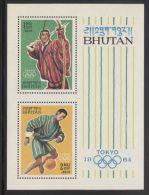 Bhutan - 1964 Tokyo Block MNH__(THB-3749) - Bhutan
