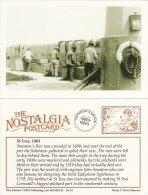 Postcard Fishermen Smeaton´s Pier ST IVES Cornwall 1903 Splicing Nets Nostalgia Repro - Fishing
