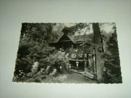 CPSM PHOTO POSTCARD HAUTE SAVOIE 74 LOVAGNY CHALET RESTAURANT AVEC LA BUVETTE EN BAS GORGES DU FIER MOUCHET / 1931 - Lovagny