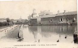 CASTELNAU RIVIERE BASSE LA GALOPE ECOLE ET CLOCHER